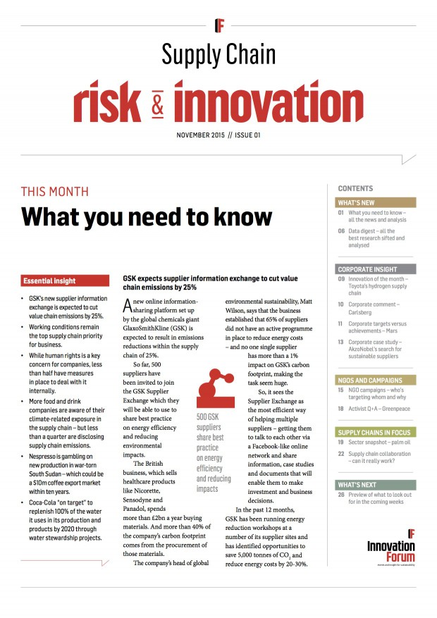 IF Supply Chain Risk & Innovation